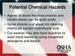 potential chemical hazards12
