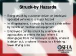 struck by hazards