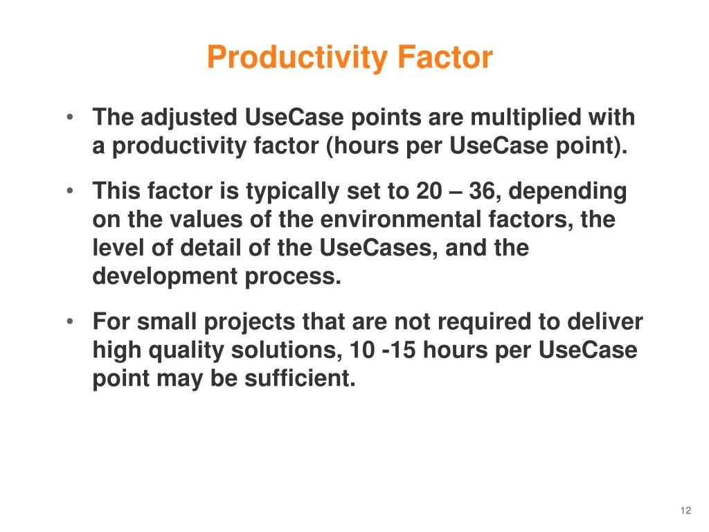 Productivity Factor