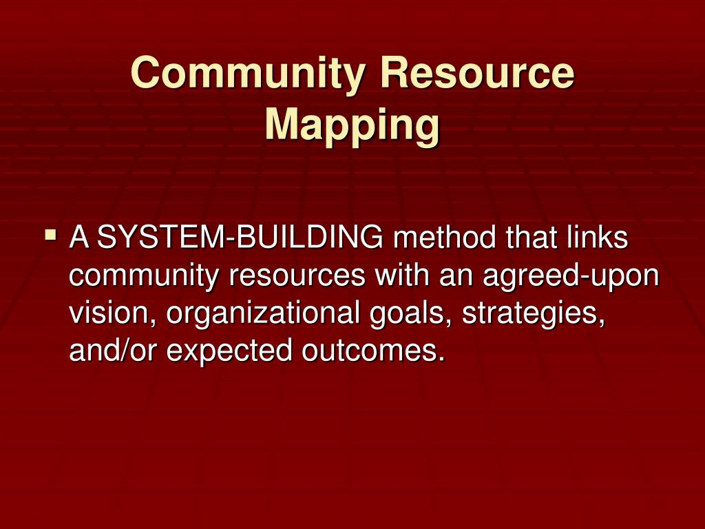 Community Resource Mapping