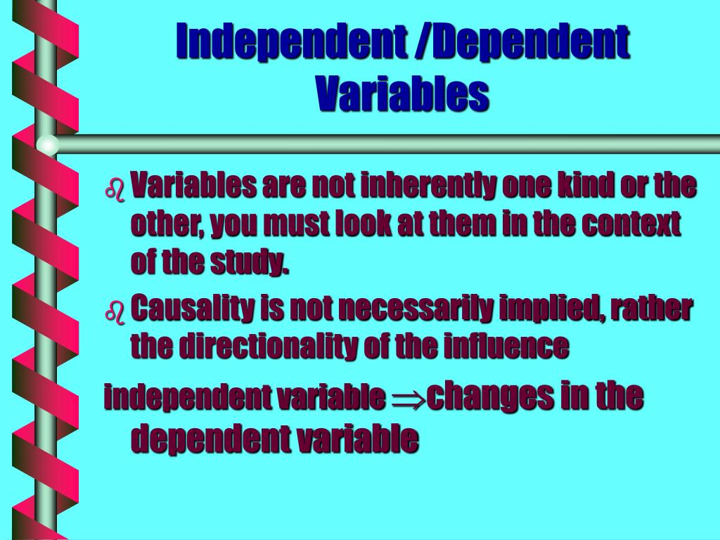 Independent /Dependent Variables