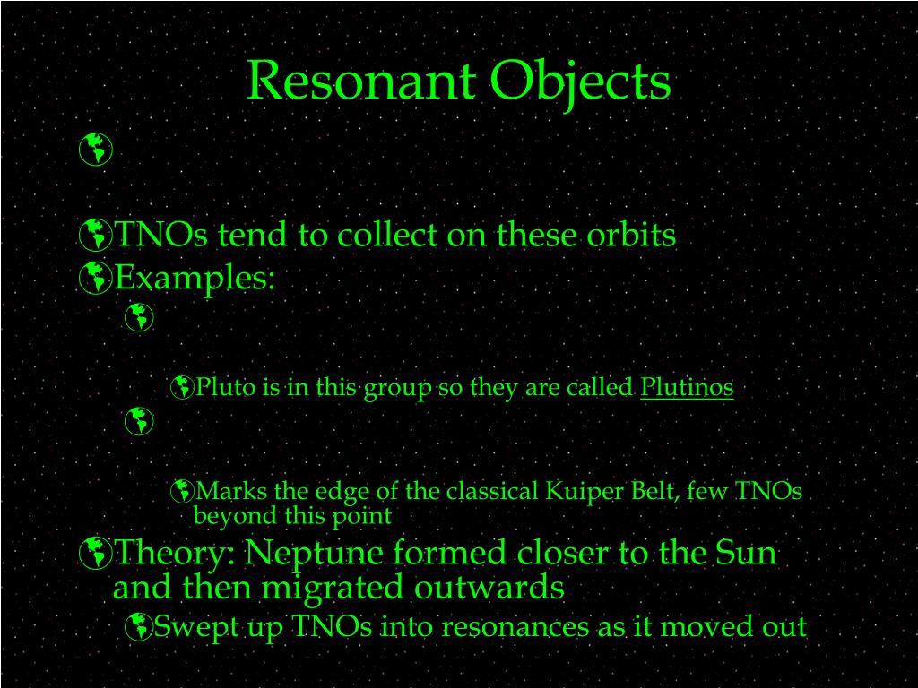 Resonant Objects