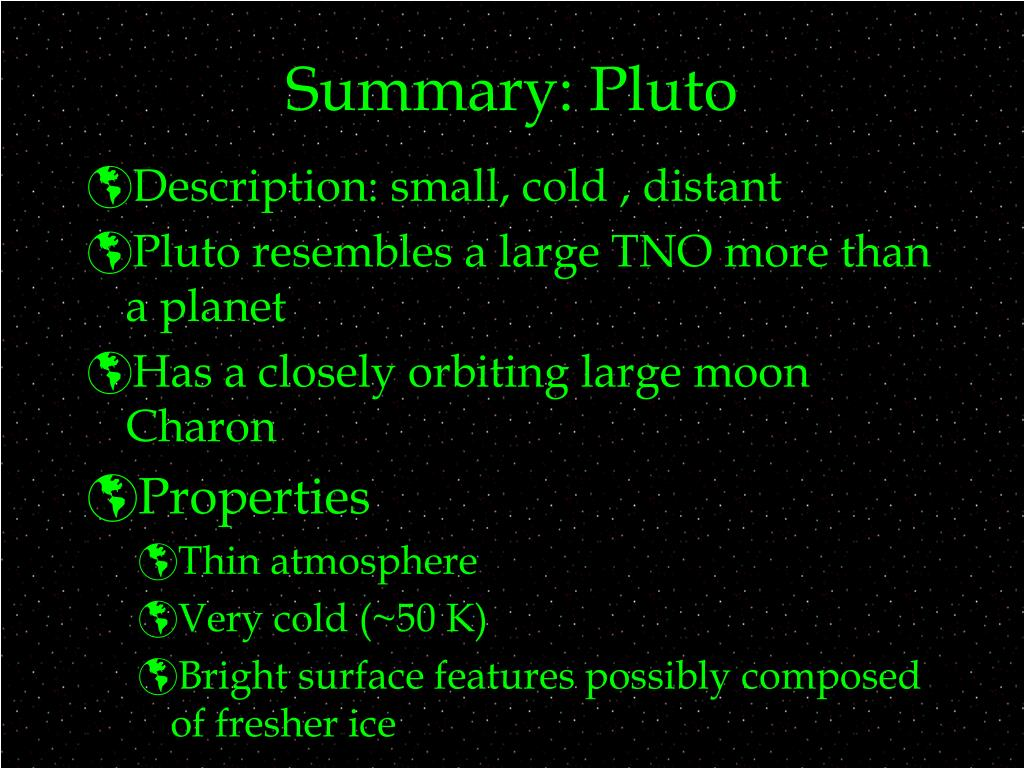 Summary: Pluto