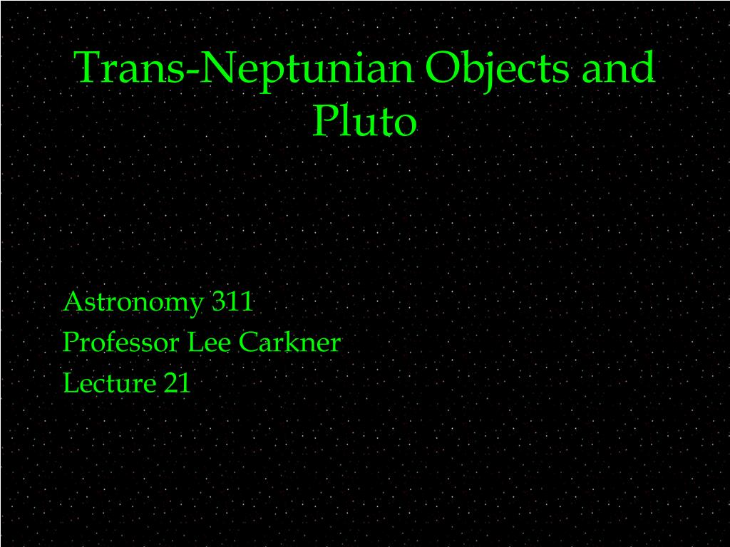 Trans-Neptunian Objects and Pluto