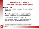 definitions of cultures culture as communication system