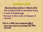 limited atar