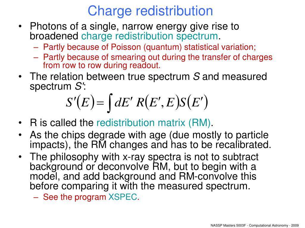 Charge redistribution