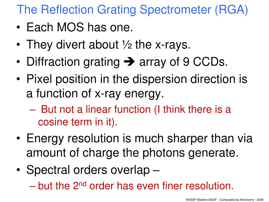 The Reflection Grating Spectrometer (RGA)