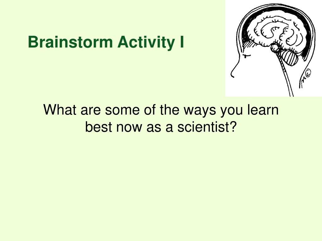 Brainstorm Activity I
