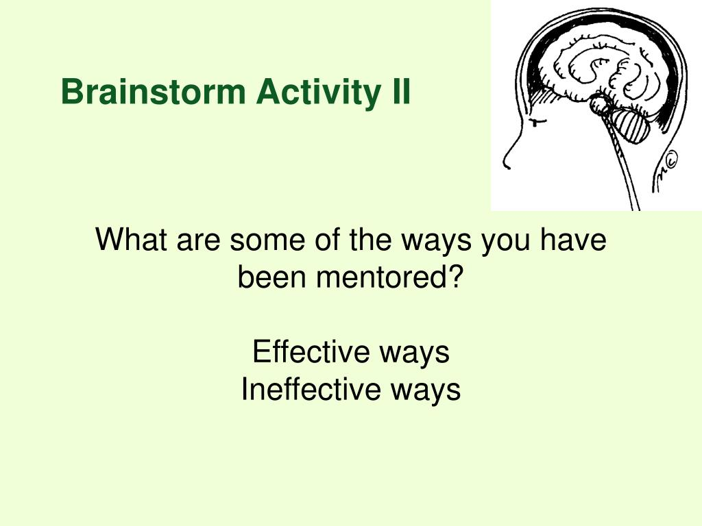 Brainstorm Activity II