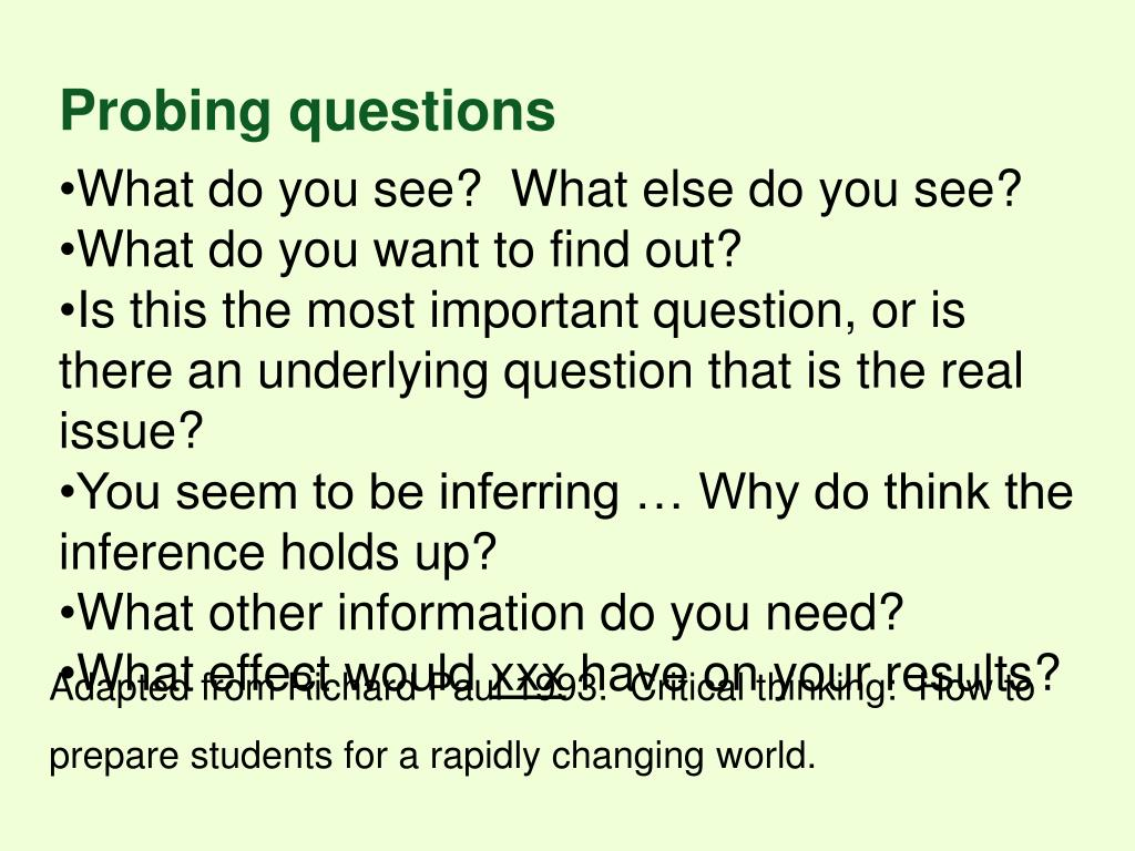 Probing questions