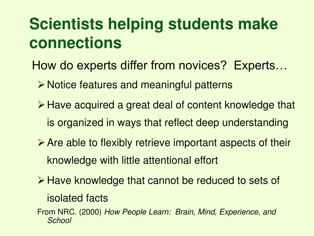 Scientists helping students make connections