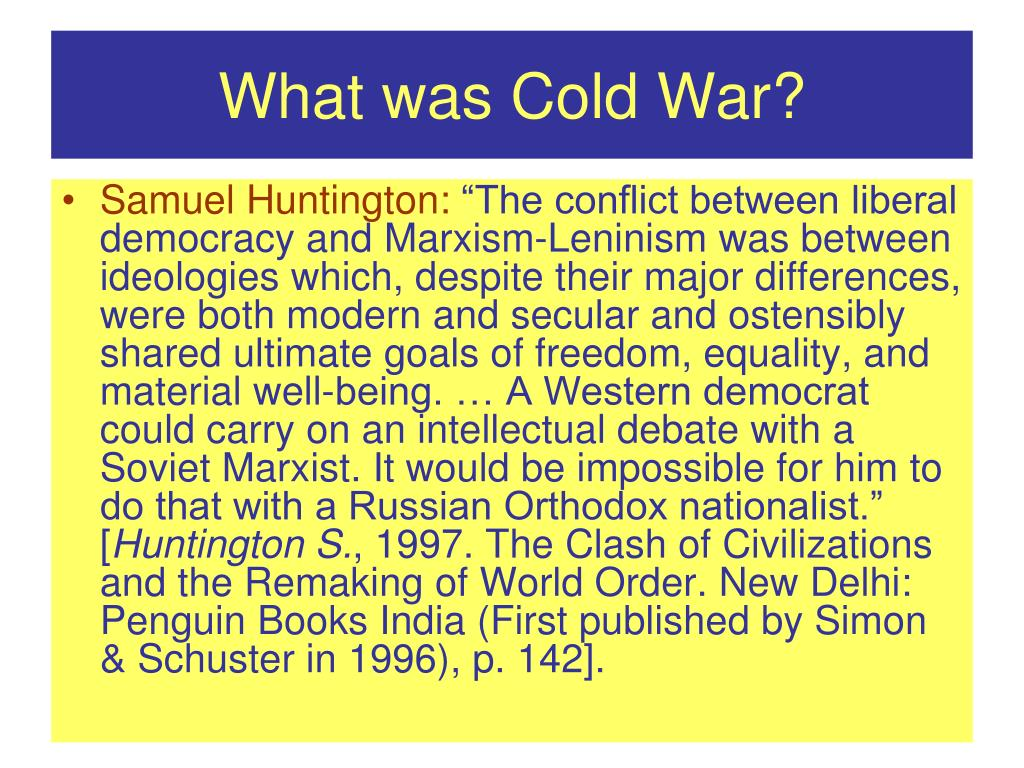 What was Cold War?