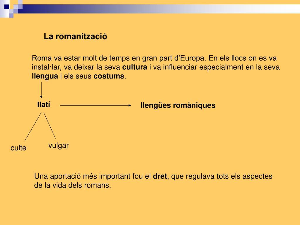 La romanització