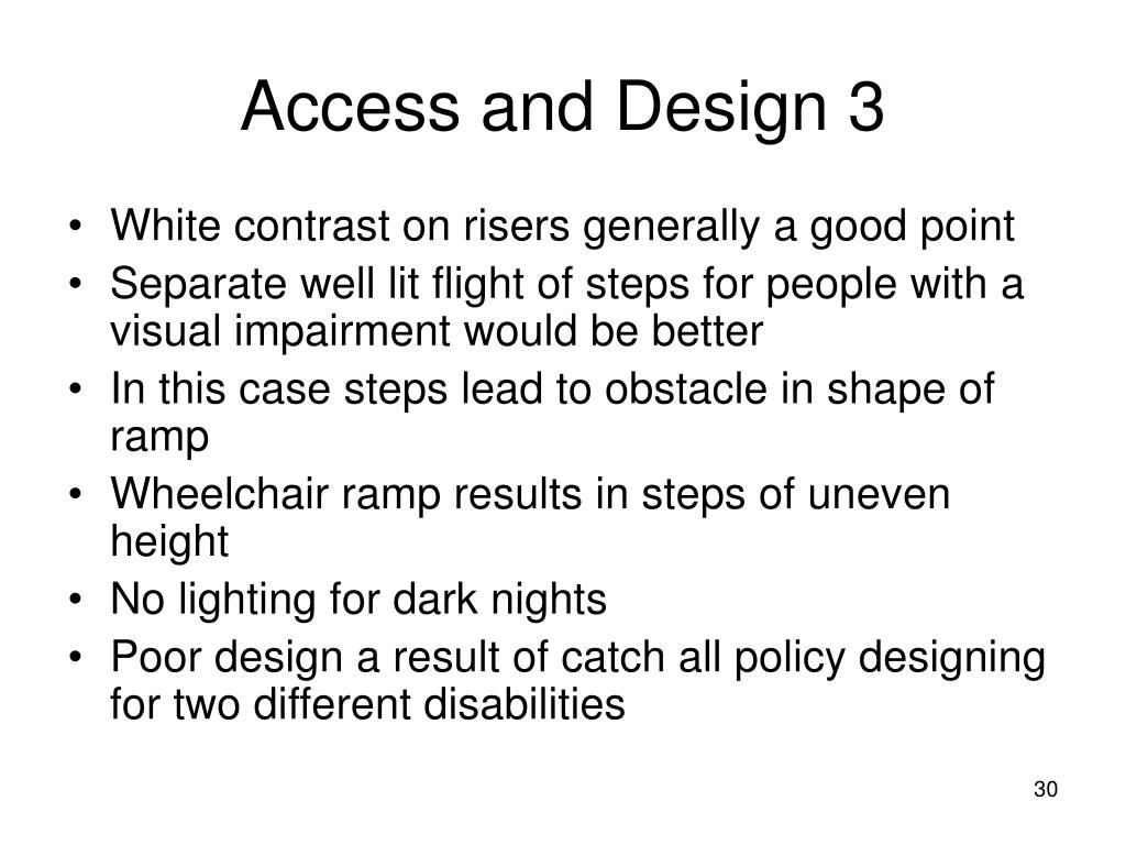 Access and Design 3