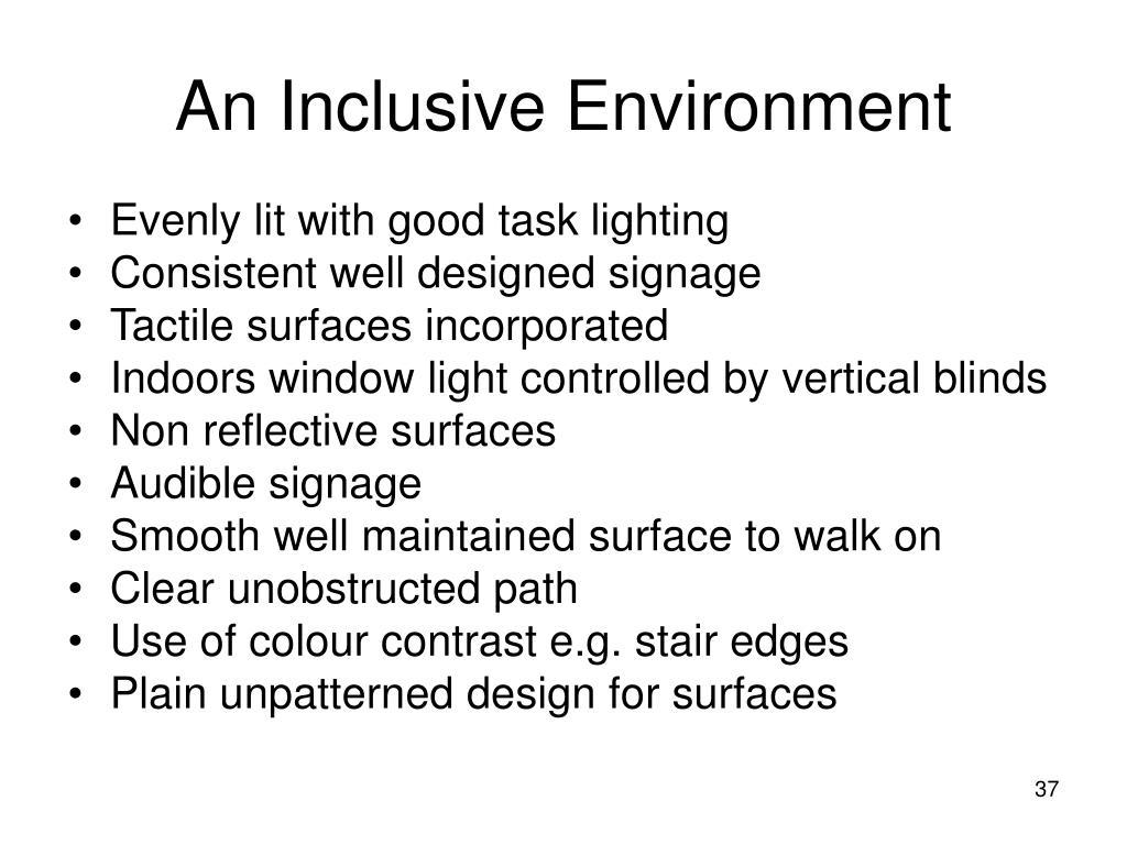 An Inclusive Environment