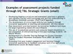 examples of assessment projects funded through uq t l strategic grants small