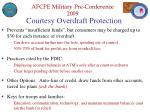 courtesy overdraft protection
