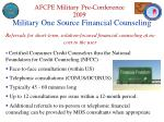 military one source financial counseling