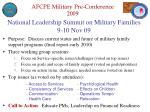 national leadership summit on military families 9 10 nov 09