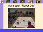 macalester robot day