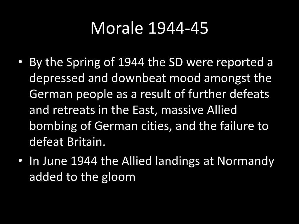 Morale 1944-45