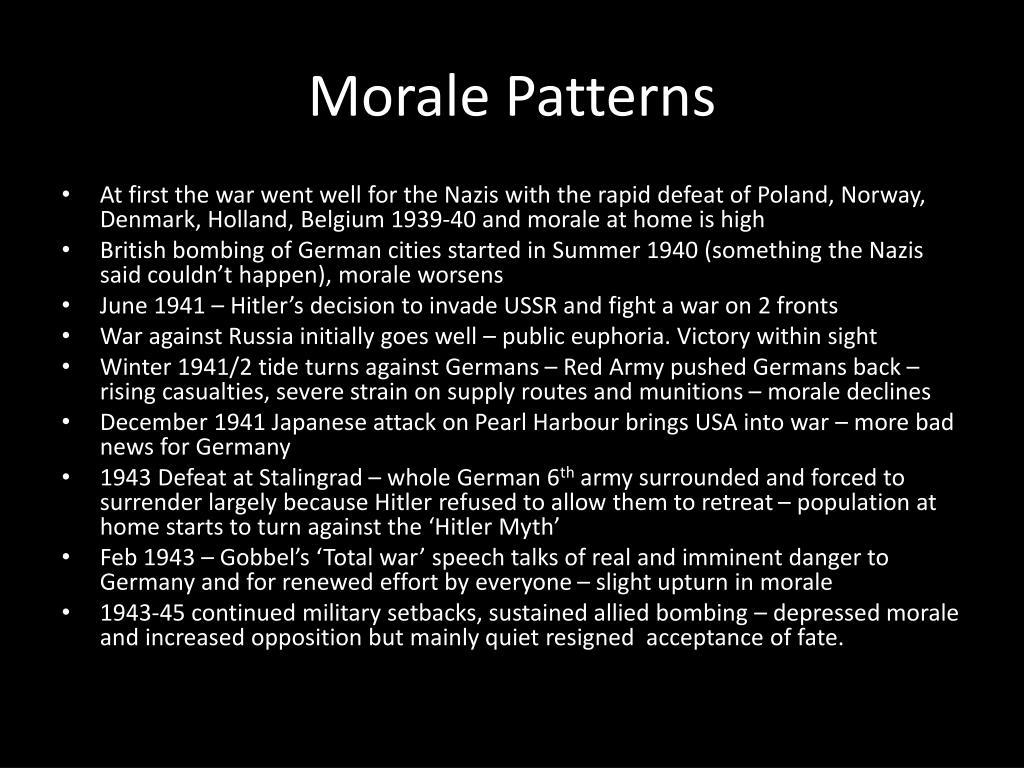 Morale Patterns