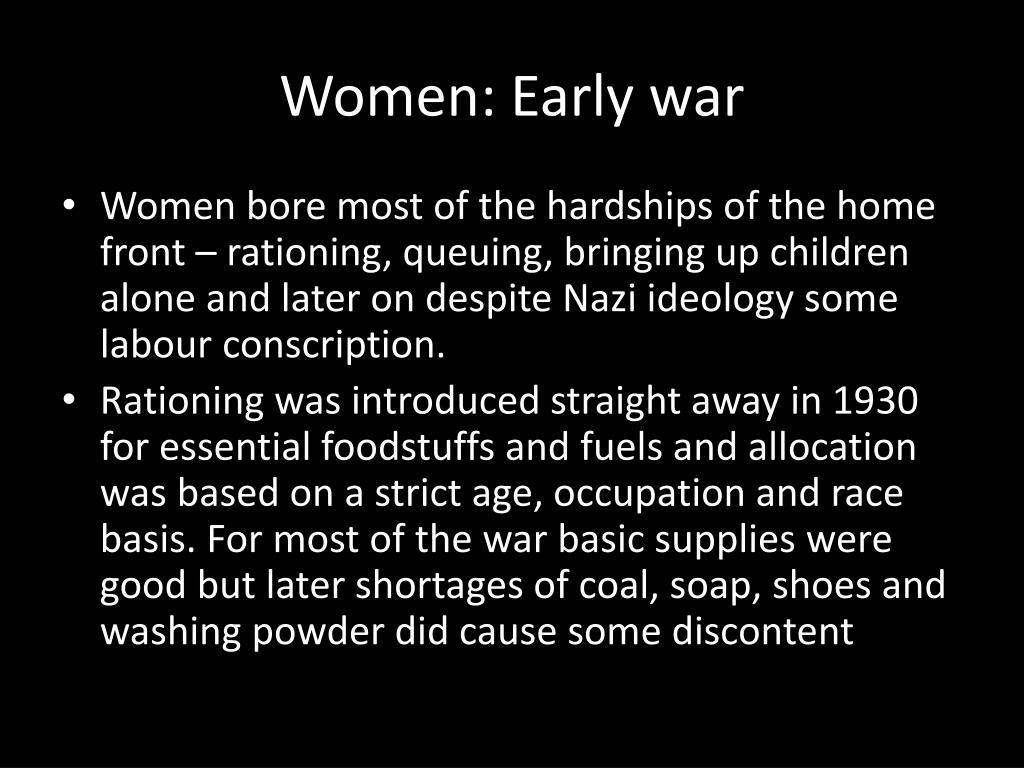 Women: Early war