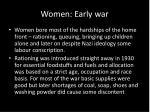 women early war