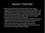women total war