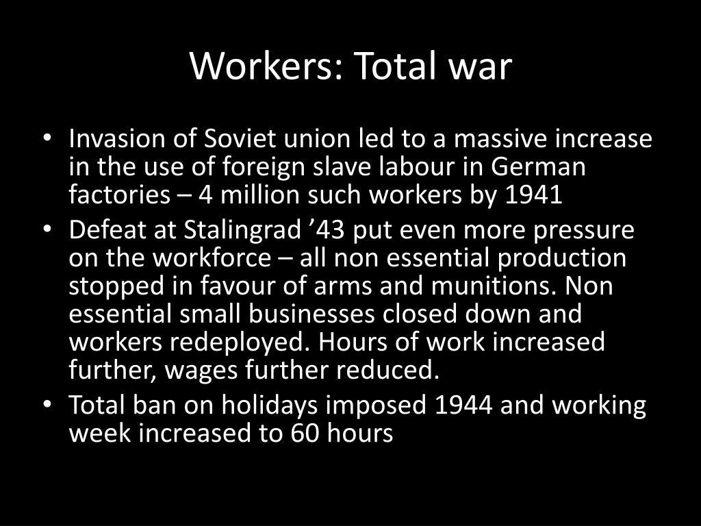 Workers: Total war