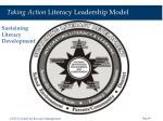 taking action literacy leadership model39