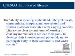 unesco definition of literacy