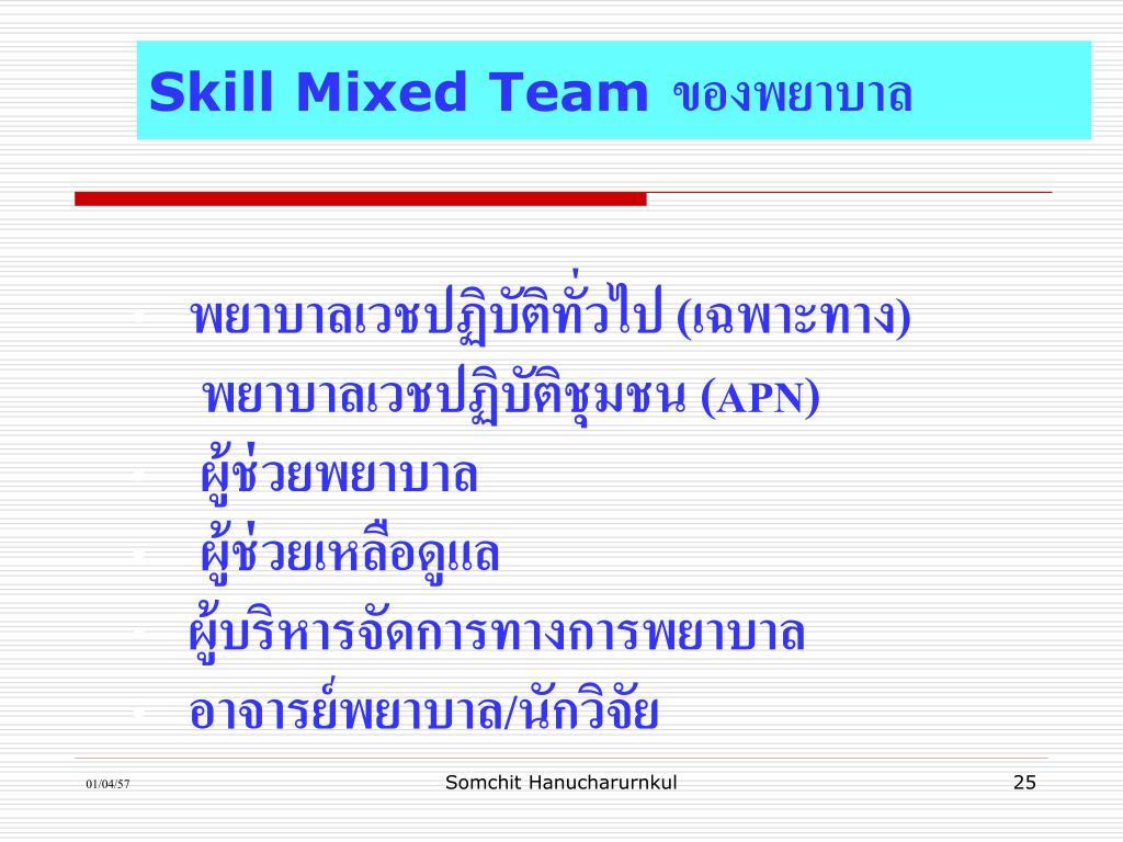 Skill Mixed Team