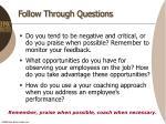 follow through questions