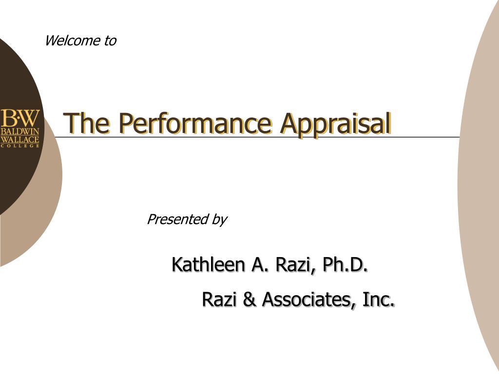 the performance appraisal