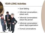 year long activities