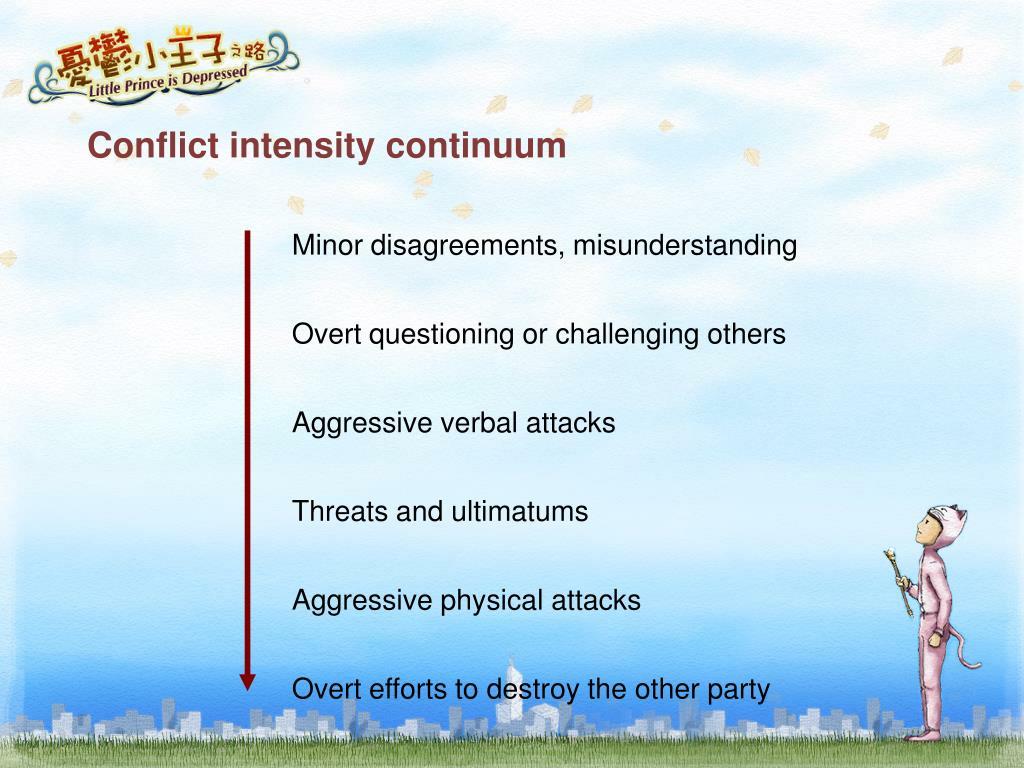 Conflict intensity continuum