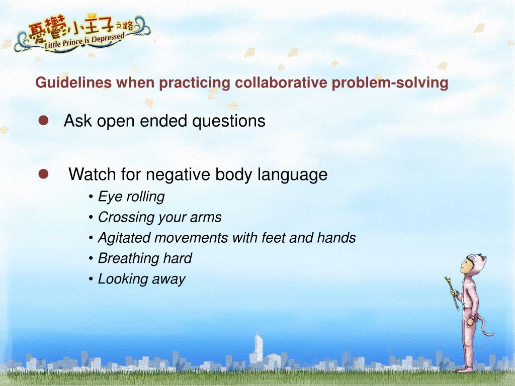 Guidelines when practicing collaborative problem-solving