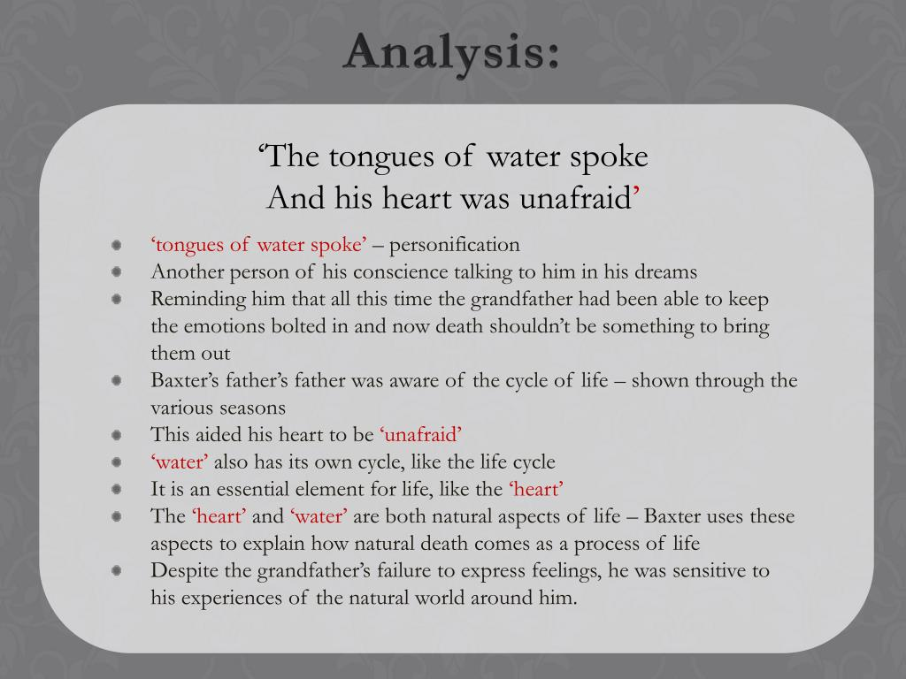 'The tongues of water spoke