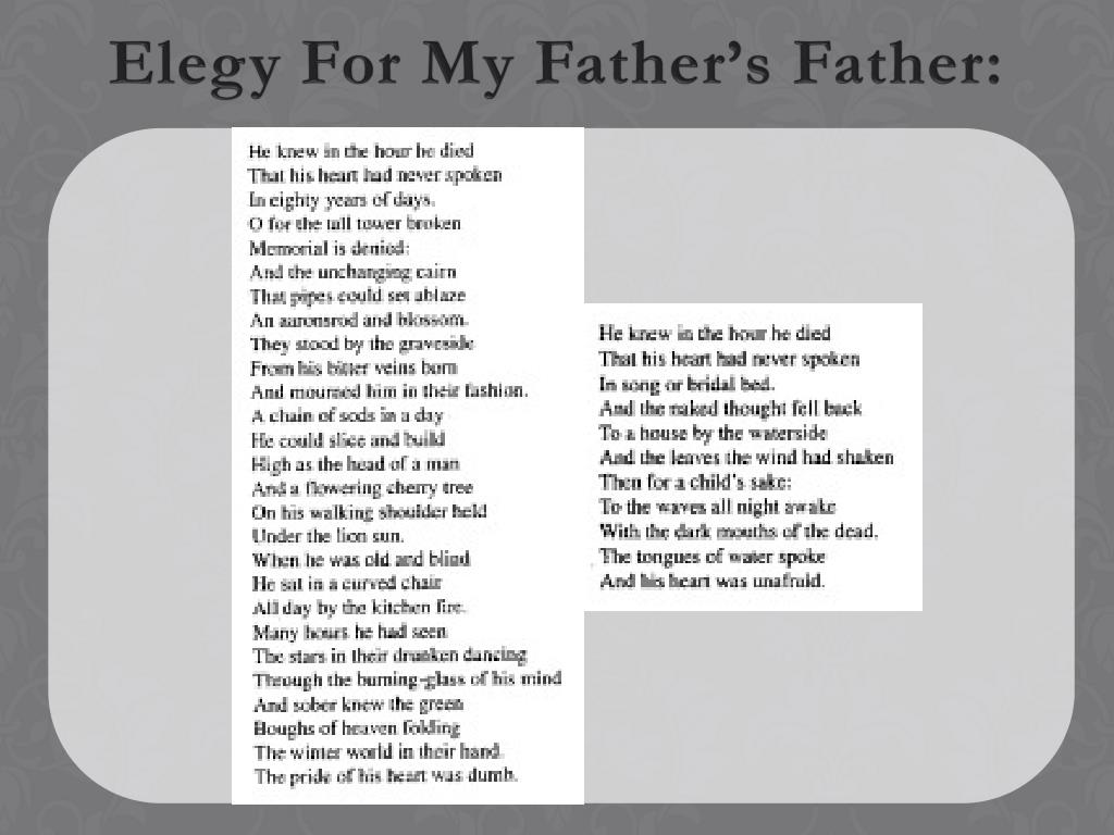 Elegy For My Father's Father: