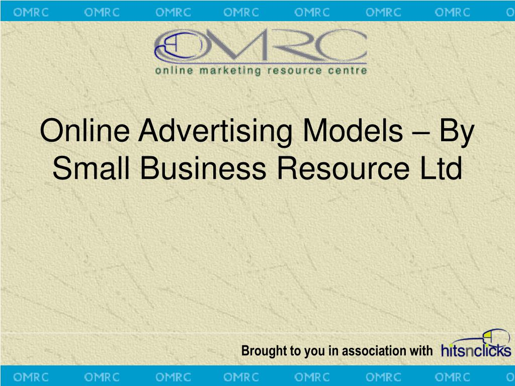 online advertising models by small business resource ltd