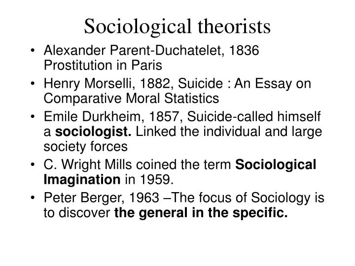 Sociological theorists