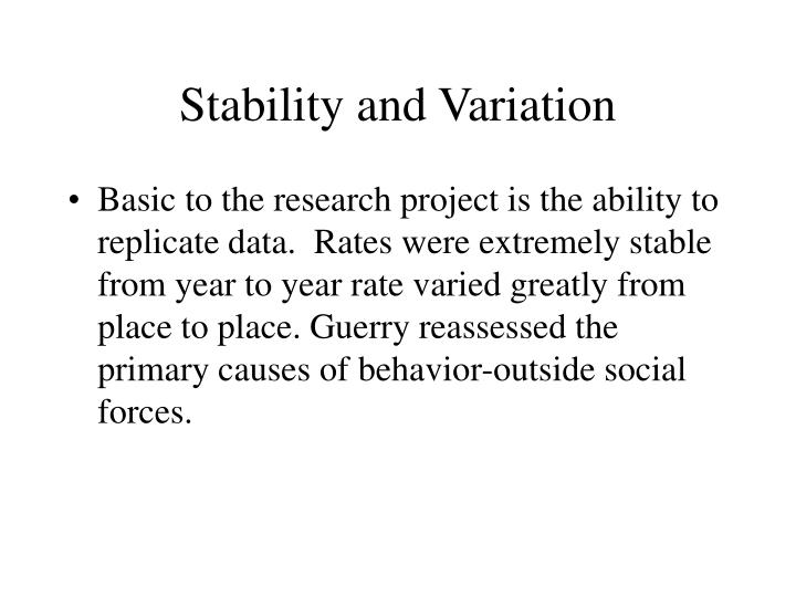 Stability and Variation