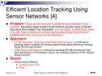 efficient location tracking using sensor networks 4