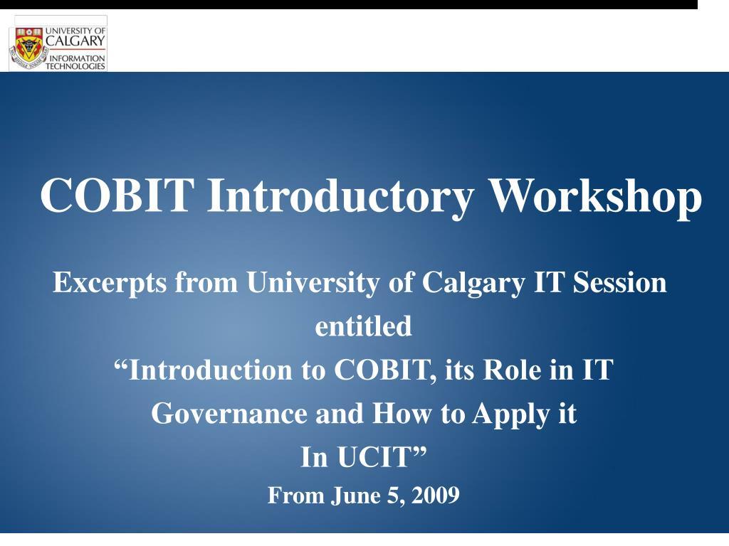 COBIT Introductory Workshop