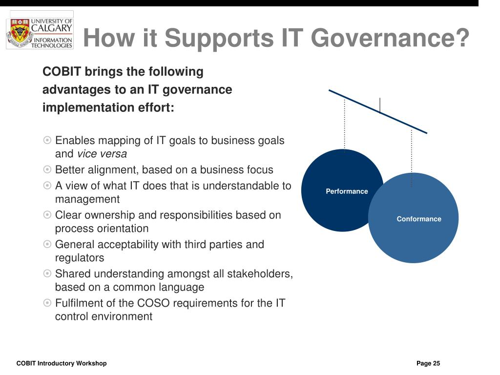 How it Supports IT Governance?