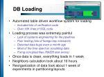 db loading