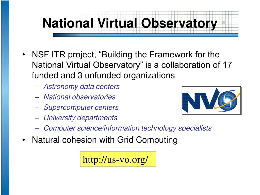 National Virtual Observatory