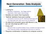 next generation data analysis